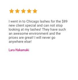 Chicago Lashes Testimonial 2